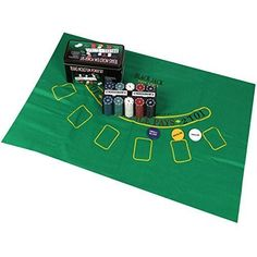 Rexco 200 Piece Texas Hold'em Poker Gift Set Chips Professional Casino Game Cards Deck Mat In Metal Storage Gift Tin