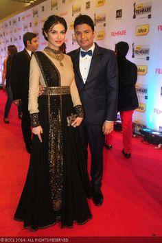 Bhushan Kumar with his wife Divya Khosla #sabyasachi