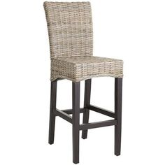 Kubu Barstool for the kitchen bar. i pinned the 30 inch seat height barstool but i think it may be too tall. there is a counter stool with i think a 24 inch seat height that will work better. just like this one, but shorter Seagrass Bar Stools, Tall Bar Stools, Bar Chairs, Woven Bar Stools, Dining Chairs, Bar Furniture For Sale, Modern Furniture, Furniture Ideas, Cheap Furniture