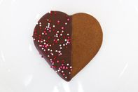 Belgian Chocolate Dipped Gingerbread cookies for Valentine's Day | Christy's Gourmet Gifts in Burlington, Ontario