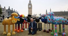Hot Shots Photos of the Day: Bristol Balloon Fiesta, Homemade Helicopter, Shaun the Sheep Hot Shots, Statues, Bristol Balloon Fiesta, Sculptures, Lion Sculpture, Weekend In London, Shaun The Sheep, London 2016, Things To Do In London