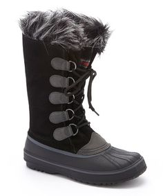 de912fbea43c Another great find on  zulily! Black Marina Leather Boot - Women   zulilyfinds Black