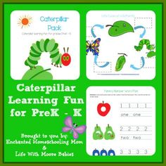 Free Printable Caterpillar Pack - by Enchanted Homeschooling Mom and Life With Moore Babies
