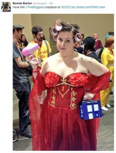 Brilliant, why hasn't this been done until now?! All hail the bloggess cosplayer!