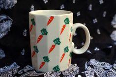 vintage Otagiri carrot coffee mug