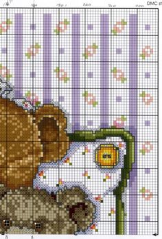 Cozy Bears Cross Stitch Boards, Simple Cross Stitch, Cross Stitch Baby, Cross Stitch Animals, Patchwork Patterns, Needlepoint Patterns, Embroidery Patterns, Cross Stitch Designs, Cross Stitch Patterns