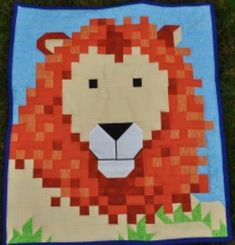 Lion Quilt Pattern by SewCuteQuilting on Etsy, $10.00