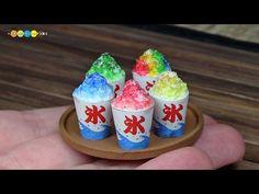 DIY Fake food - Miniature Shaved ice ミニチュアかき氷作り - YouTube