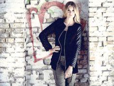 Quiltet læder jakke - army jeans og basic top. Et sæt der altid virker :-) www.malucca.dk