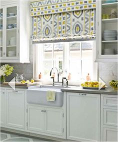 kitchen - would roman shades in translucent material cloak glass blocks and leave light? Would they get too dirty in the kitchen?