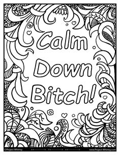 Adults color too Swear Word Coloring Book, Love Coloring Pages, Printable Adult Coloring Pages, Coloring Books, Coloring Sheets, Alphabet Coloring, Calm, Drawings, Amazing Man