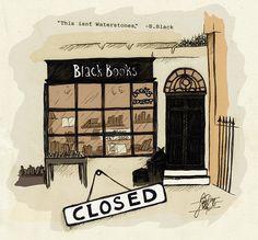 Black Books fanart (by lise-art on Tumblr)