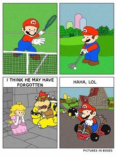 Mario is Off Doing His Own Thing #Mario #Nintendo