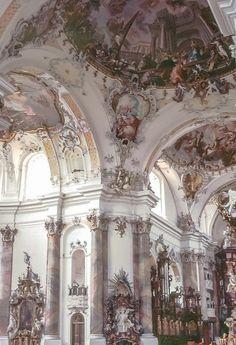 Ottobeuren Abbey, founded rokoko/baroque Architecture Antique, Beautiful Architecture, Beautiful Buildings, Art And Architecture, Beautiful Places, Renaissance Architecture, Renaissance Art, Oeuvre D'art, Aesthetic Wallpapers