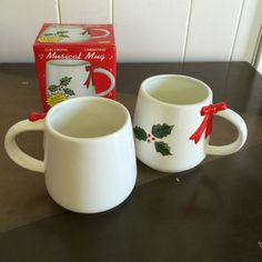 Electronic Christmas Musical Mug Plays Jingle Bells Set of Two Mugs In Original Boxes by RetroResaleSanDiego on Etsy