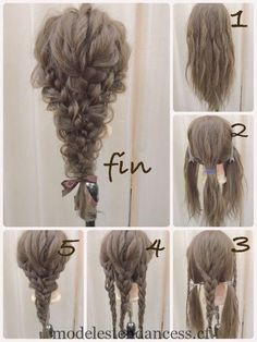 If you want to master it, it& absolutely practical - - frisuren haare hair hair long hair short Box Braids Hairstyles, Party Hairstyles, Wedding Hairstyles, Popular Hairstyles, Fall Hairstyles, Teenage Hairstyles, Hairstyles Medium Hair, Waitress Hairstyles, Mermaid Hairstyles