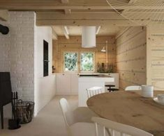 Drewniany minimalistyczny dom   Proj: Elementy   IH - Internity Home Bali, Dining Table, Kitchen, House, Furniture, Home Decor, Cooking, Decoration Home, Home