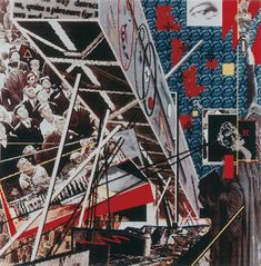 Daniel Libeskind; Projection Psycho-Cybernétique de Berlin, 1988 View with an Angel from Southwest Photographie Reproduction laser sur papier photographique 103 x 103 cm