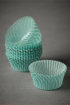 mint cupcake liners
