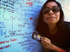 """ZOGAN was spotted with @ Rpatzz at the """"What are you reading?"""" wall at the LA Times Festival of Books!"""