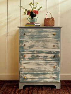 got milk paint?  bureau  new from unfinished furniture store.... layers of milk paint, sanded