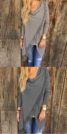 $ 9.89 Women Casual Long Sleeve Loose T-shirt