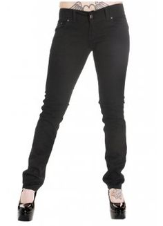 run and fly Black Stretch Skinny Jeans