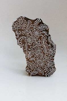 Hand carved wood textile india block stamp? $11.25