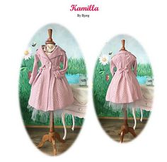 Knitting Patterns Coat LOVE this. Knitted, light weight wool coat, made out of Babyull Lanett for girls between 1 ½ year … Knitting Designs, Knitting Patterns, Coat Patterns, Wool Coat, Making Out, Ravelry, Children, Kids, Christmas Ornaments