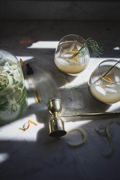 Fennel-Infused Verjus Cocktail