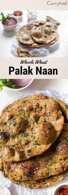 Whole Wheat Palak Naan