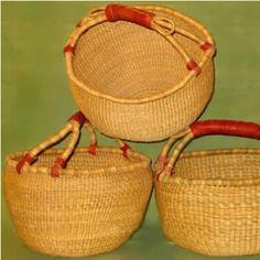 African Baskets – Bolga Basket – Natural