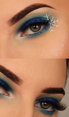 christmas makeup creative makeup 35 🎅 Christmas Makeup Ideas for You to Do This Season - Page 2 of 35 - newyearlights. Eye Makeup Blue, Makeup Eye Looks, Eye Makeup Art, Clown Makeup, Eyeshadow Makeup, Weird Makeup, Makeup Things, Fun Makeup, Kids Makeup