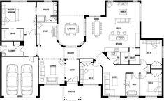 Hillside Home Design - Wide Frontage House Plan | Porter Davis