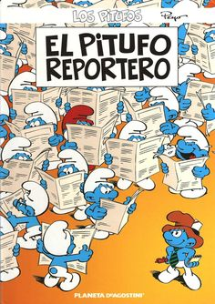 The Reporter Smurf Vintage Comic Books, Vintage Comics, Book Library App, Dreamworks, Free Books, My Books, Library Software, Don Winslow, Caricatures