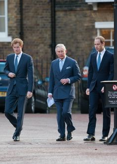 Prince Harry, Prince Charles, Prince William all looking extremely dapper