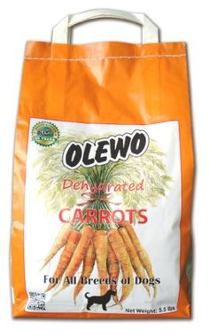 Olewo Dehydrated Carrots Dog Food Supplement, 5-1/2-Pound. Do you care about your dogs welfare, then buy him or her the best quality dog products and dog accessories... « DogSiteWorld-Store