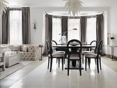 Luxury London apartment by Kelly Hoppen MBE Top Interior Designers, Luxury Interior Design, Kelly Hoppen Interiors, Duplex, Modern Dining Table, Dinning Table, Round Dining, Dining Room Inspiration, Dining Room Design