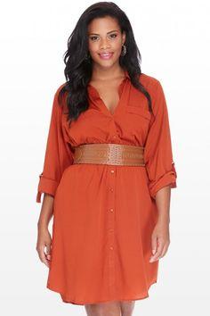 Plus Size Shirt Dress | Fashion To Figure