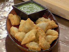 Indian Lamb Samosas with Fresh Mint Dipping Sauce