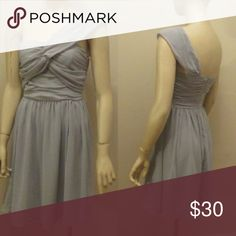 """Grey Special Dress This is a special occasion grey dress. It is made with Georgette material and is fully lined. One shoulder strap. Length from shoulder to end of dress is 36"""" Dresses"""