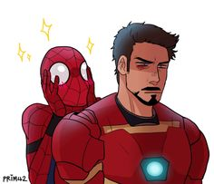 Literally Peter's relationship with Tony in Civil War. I adore it! Tony is just awesome with this kid!