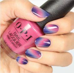 Nail art designs, pretty nail designs, nail polish designs, sky nails, p Ombre Nail Designs, Pretty Nail Designs, Simple Nail Designs, Nail Art Designs, Nails Design, Purple Ombre, Purple Nail Art, Ombre Brown, Pink Art
