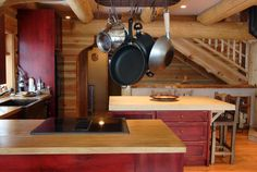 staining-kitchen-cabinets-Kitchen-Rustic-with-butcher-block ...