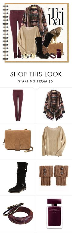 """""""Fearless Traveler"""" by paisleywest ❤ liked on Polyvore featuring 7 For All Mankind, WithChic, MANGO, Calypso St. Barth, Eric Michael, Narciso Rodriguez and TomTom"""