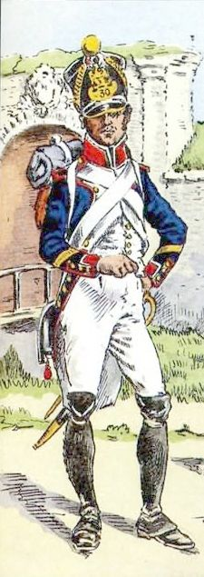 French; 30th Line Infantry, Fusilier Sergeant 1810 by H.Boisselier for Bucquoy