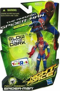 This incredible Night Mission SPIDER-MAN figure is the ultimate enemy for evil, and he comes with his own gear for sneaking into enemy hideouts! His grappling hook and suction cup give him even more gravity-defying moves against the forces of darkness. The Night Mission SPIDER-MAN figure glows... more details available at https://perfect-gifts.bestselleroutlets.com/gifts-for-holidays/toys-games/product-review-for-marvel-the-amazing-spider-man-night-force-concept-series-exclus