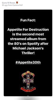 Appetite for destruction anniversary 21 July!