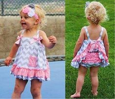 ruffly chevron toddler dress from Royal Couture Fashion