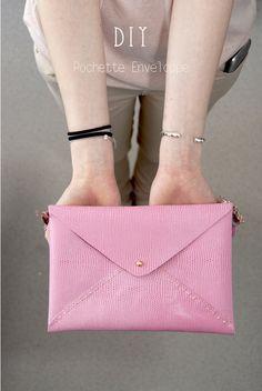 DIY pochette enveloppe   Envelope bag - Dans mon bocal